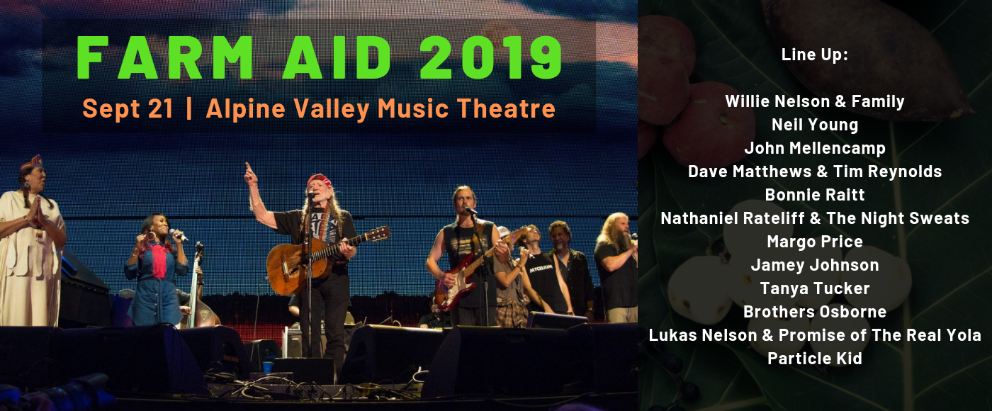 Farm Aid Festival: Willie Nelson, Neil Young, John Mellencamp & Dave Matthews at Alpine Valley Music Theatre